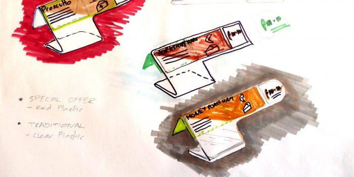 Tesco Delicatessen Stand Sketches