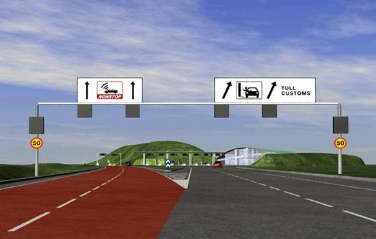 Øresund Link Drive-through Demonstration - User-centred Design Toll Booth Screen And Sign Tests