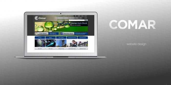 Comar Optics Website Design