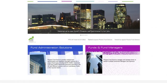Phoenix Fund Services Website Design