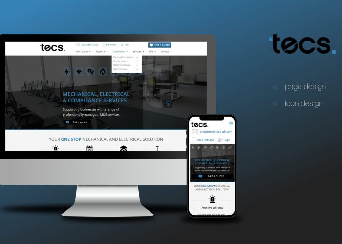 TECSUK Website Homepage Design