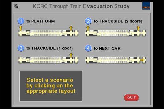KCRC Through Train Evacuation Study - User Centred Design Principles UX