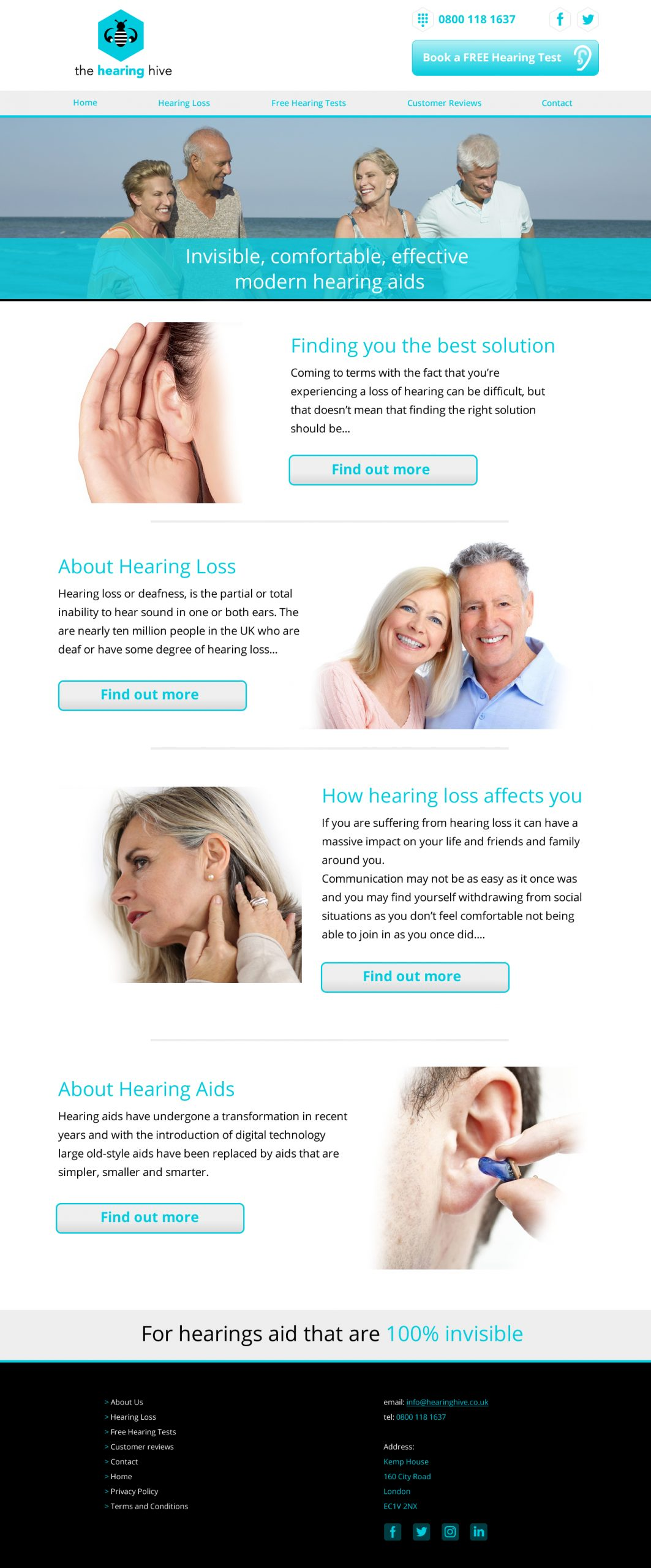 The Hearing Hive website home page