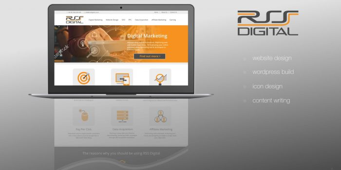 RSS Digital Website Graphic Design
