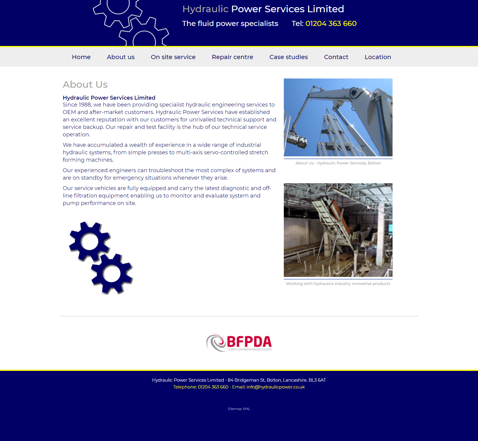 Hydraulic Power Services - About Page