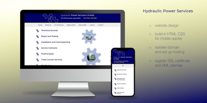 Hydraulic Power Services - Website Transfer And Fast Re-build