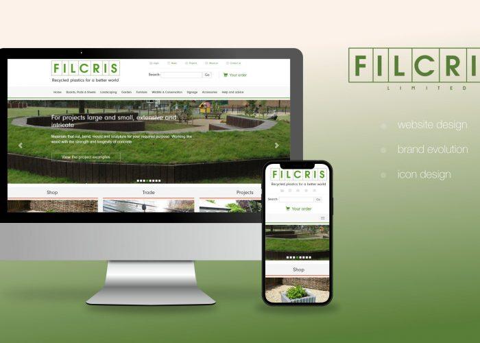 Filcris Website Home Page Design