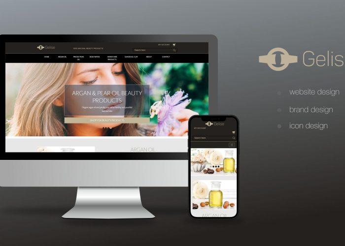 Gelise Website Home Page Design