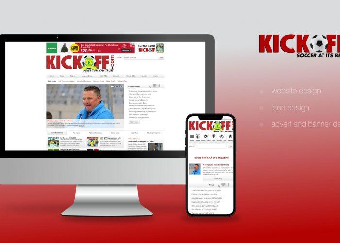 Kick Off Website Home Page Design