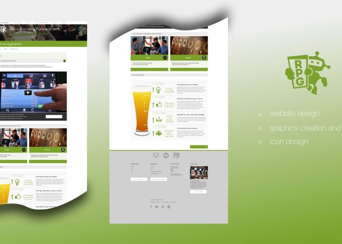 Robot Pub Group Website Overview Page Design