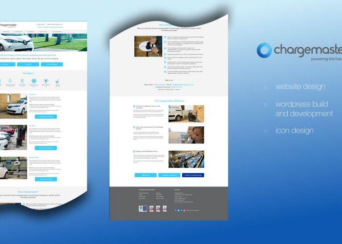 Chargemaster PLC Website Landing Page Design