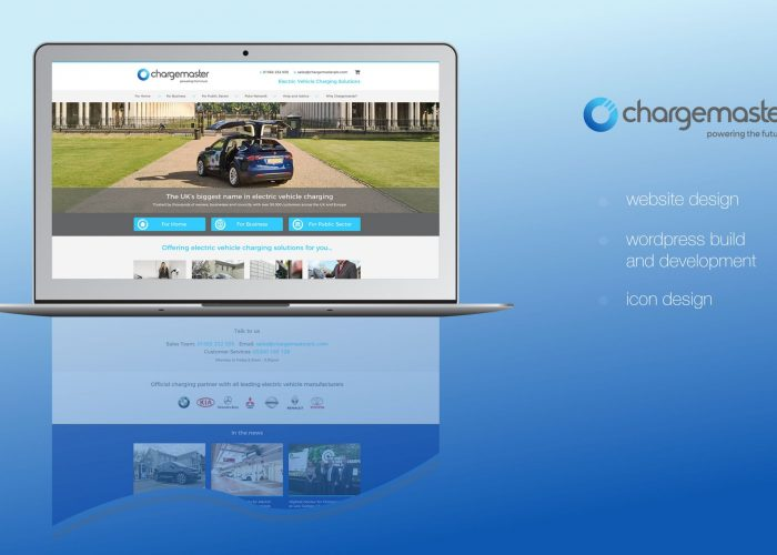 Chargemaster PLC Website Home Page Design