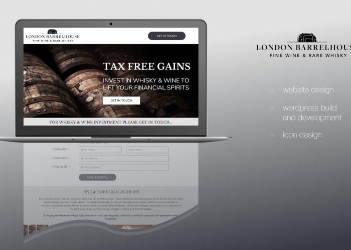 London Barrelhouse Website Home Page Design