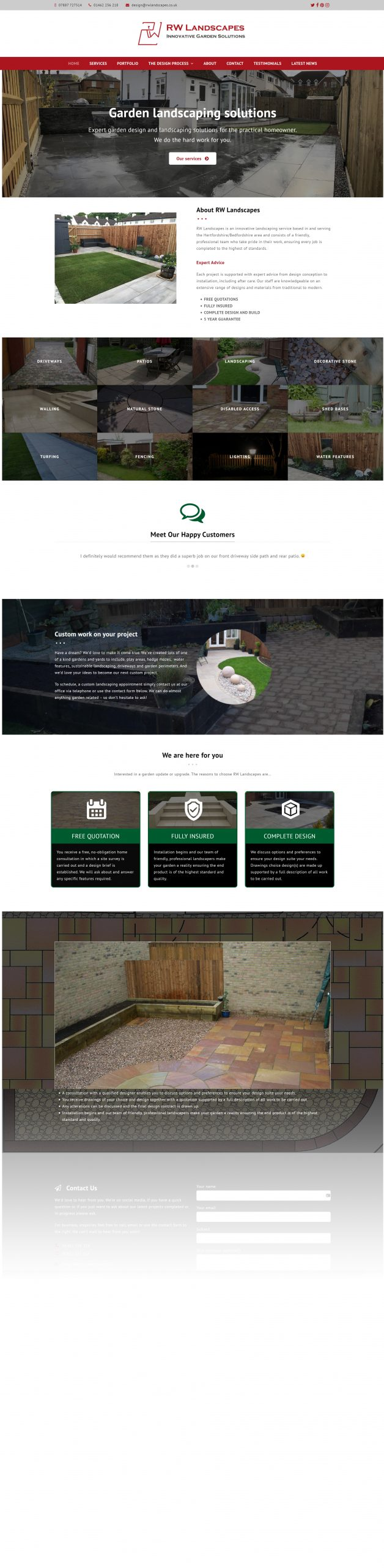 RW Landscapes website version 02 - 2021 Homepage